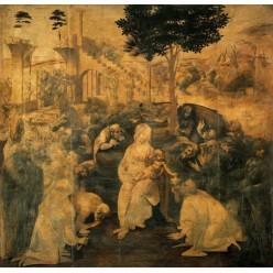 """Репродукция картины Леонардо да Винчи """"Поклонение волхвов"""" (LDV-6672)"""