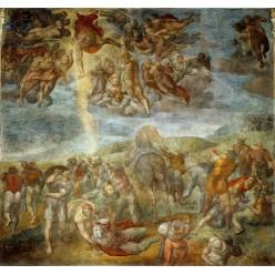"""Репродукция картины Микеланджело Буонарроти """"Обращение Святого Павла"""" (MLB-8189)"""