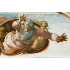 """Репродукция картины Микеланджело Буонарроти """"Отделение земли от вод"""" (MLB-8201)"""