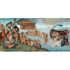 """Репродукция картины Микеланджело Буонарроти """"Всемирный потоп"""" (после реставрации) (MLB-8196)"""