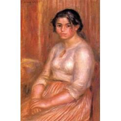 """Репродукция картины Пьера Огюста Ренуара """"Габриэль сидя"""" - около 1895 года (PAR-0714)"""