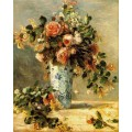"Репродукция картины Пьера Огюста Ренуара ""Roses and Jasmine in a Delft Vase"" - 1880-1881 годы (PAR-0715)"