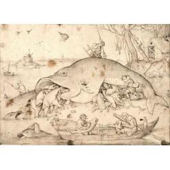 """Репродукция картины Питера Брейгеля (старшего) """"Большие рыбы поедают маленьких"""" (PBG-0817)"""