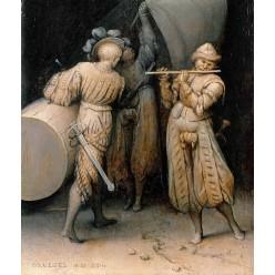 """Репродукция картины Питера Брейгеля (старшего) """"Три солдата"""" (PBG-0819)"""