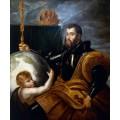 """Репродукция картины Рубенса """"Аллегорический портрет императора Карла V (1500-1558)"""" (PPR-0308)"""