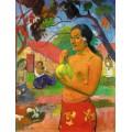 """Репродукция картины Поля Гогена """"Куда идешь? (Женщина, держащая плод)"""" (PLG-9903)"""