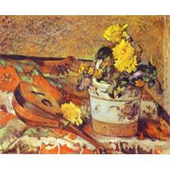 """Репродукция картины Поля Гогена """"Мандолина и цветы"""" (PLG-9918)"""