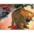 """Репродукция картины Поля Гогена """"Почему ты ревнуешь?"""" 1892 год (PLG-9905)"""