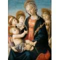 """Репродукция картины Сандро Боттичелли """"Мадонна с младенцем, двумя ангелами и юным Иоанном Крестителем"""" (SBT-7182)"""