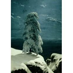 "Репродукция картины И. И. Шишкина ""На севере диком"" (ISH-3134)"