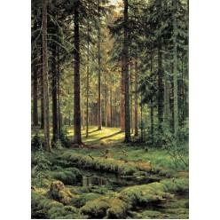 """Репродукция картины И. И. Шишкина """"Хвойный лес. Солнечный день"""" (ISH-3139)"""