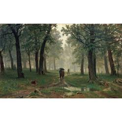 """Репродукция картины И. И. Шишкина """"Дождь в дубовом лесу"""" 1891 год (ISH-3149)"""