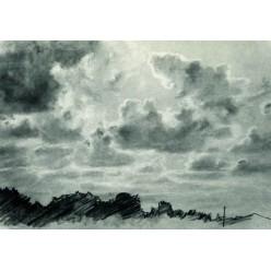 """Репродукция картины И. И. Шишкина """"Облака"""" 1880-е года (ISH-3144)"""