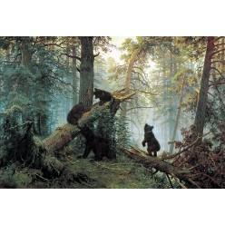 """Репродукция картины И. И. Шишкина """"Утро в лесу"""" (ISH-3133)"""