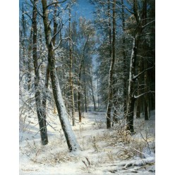 "Репродукция картины И. И. Шишкина ""Зима в лесу, иней"" 1877 год (ISH-3143)"