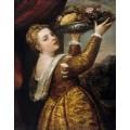 """Репродукция картины Тициана """"Девушка с подносом фруктов"""" (TCN-0516)"""