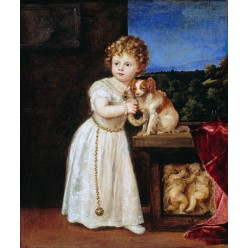 "Репродукция картины Тициана ""Кларисса Строцци в возрасте двух лет"" (TCN-0509)"