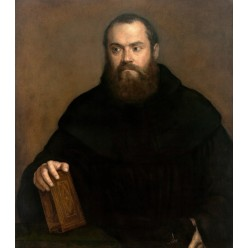 "Репродукция картины Тициана ""Монах с книгой"" (TCN-0506)"