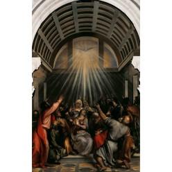 """Репродукция картины Тициана """"Сошествие Святого Духа на апостолов"""" (TCN-0512)"""
