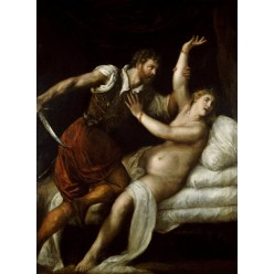 "Репродукция картины Тициана ""Тарквиний и Лукреция"" (TCN-0508)"