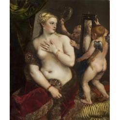 """Репродукция картины Тициана """"Венера с зеркалом"""" (TCN-0502)"""